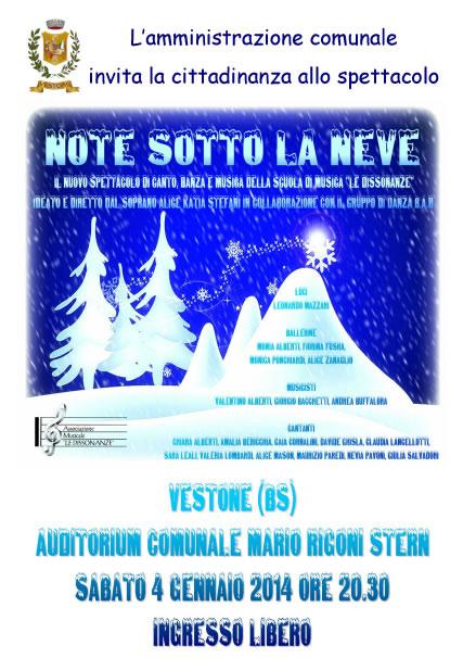 Note Sotto la Neve a Vestone