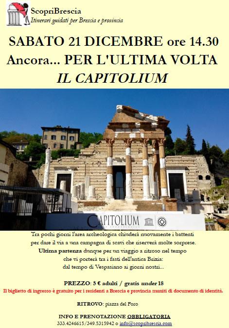 Per l'Ultima Volta il Capitolium con ScopriBrescia