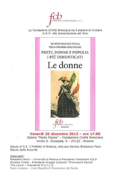 Presentazione Libro Le Donne a Brescia