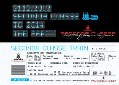 Seconda Classe to 2014 The Party