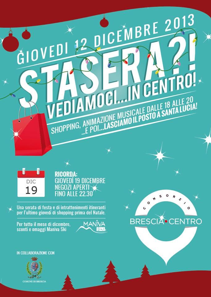 Stasera vediamoci in centro a Brescia