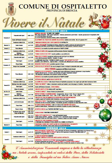 Vivere il Natale a Ospitaletto