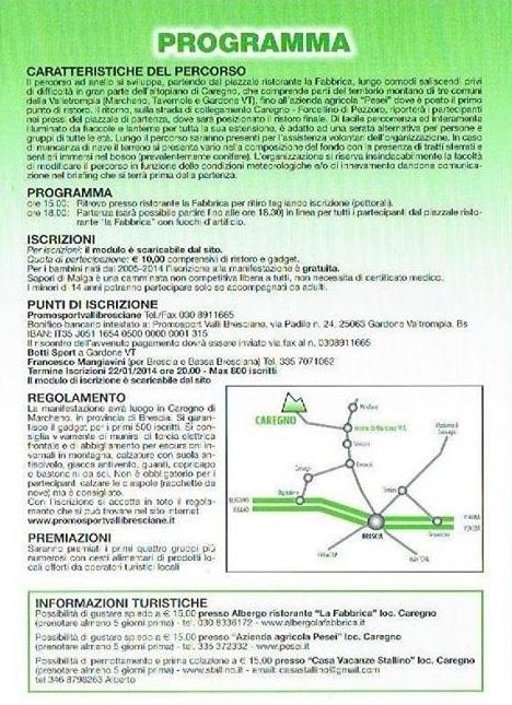 4 Sapori di Malga sotto le Stelle 2014 Caregno programma
