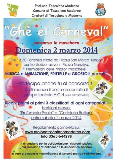 Ghe el Carneval a Toscolano Maderno