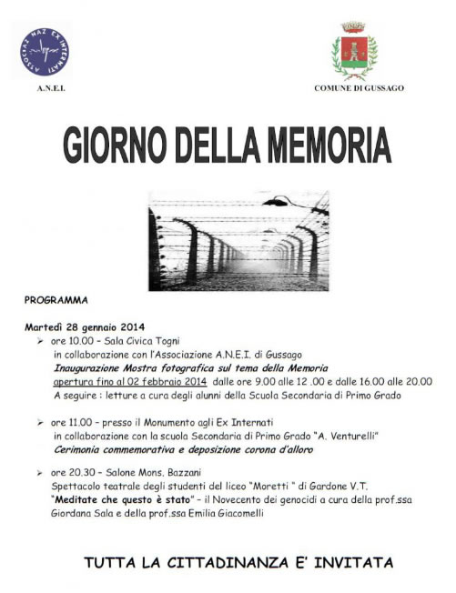 Giorno della Memoria a Gussago