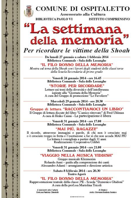 La Settimana della Memoria a Ospitaletto