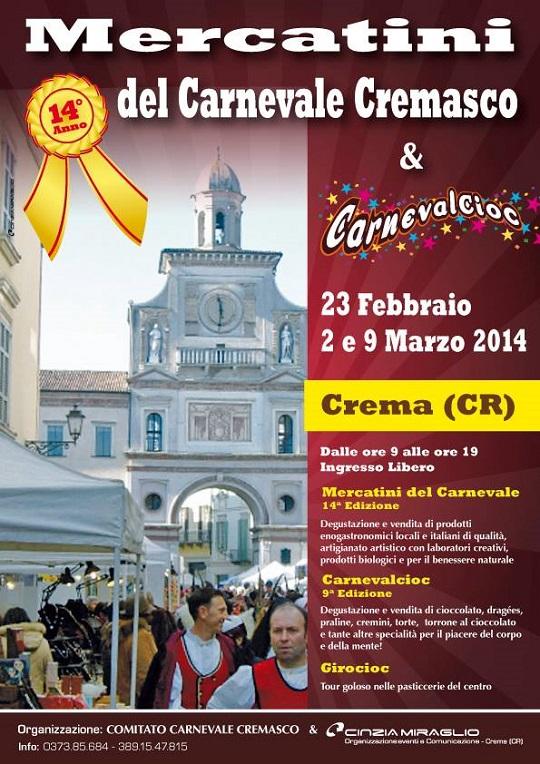 Mercatini del Carnevale Cremasco e Carnevalcioc 2014