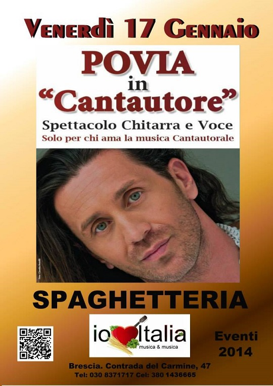 Povia alla Spaghetteria Io Amo Italia
