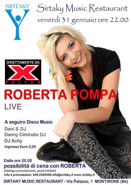 Roberta Pompa al Sirtaky di Montirone