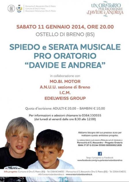 Spiedo e Serata Musicale Pro Oratorio a Ono S.Pietro