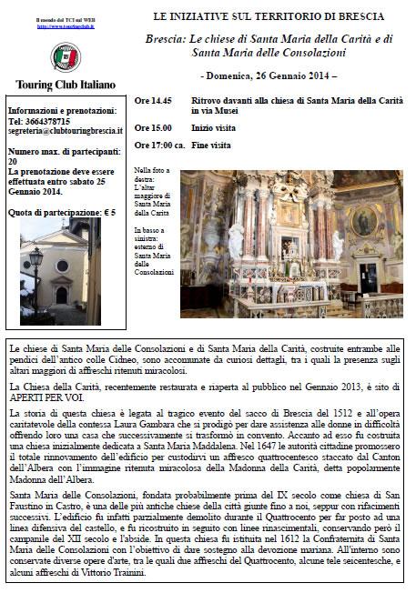 Visita Guidata alle Chiese di S.Maria Carità e S.Maria Consolazioni a Brescia
