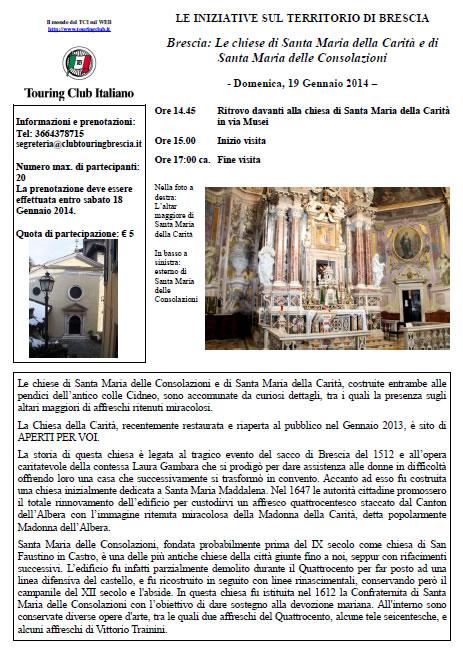 Visita Guidata con Touring Club Italiano alle chiese di S.Maria della Carità e di S.Maria delle Consolazioni