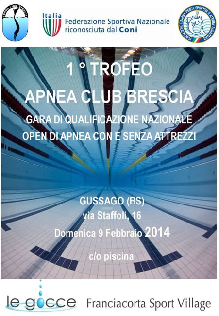 1 Trofeo Apnea Club Brescia a Gussago