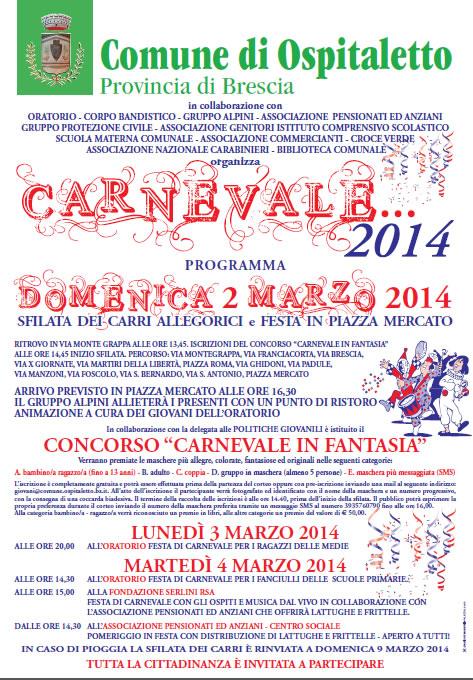 Carnevale 2014 a Ospitaletto