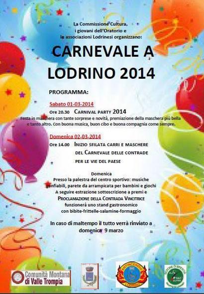 Carnevale a Lodrino 2014