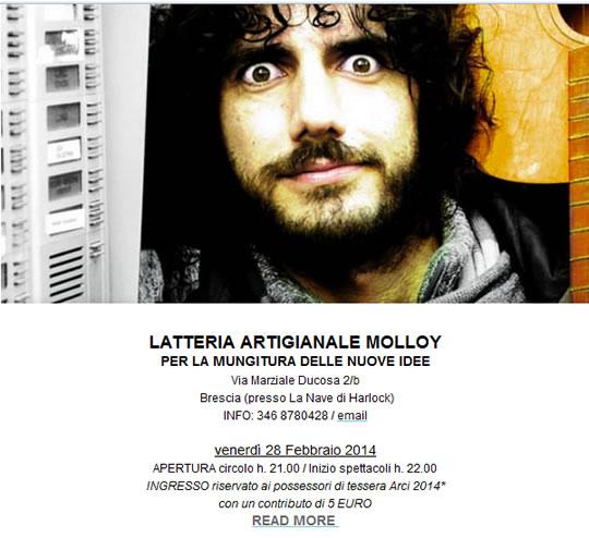 Concerto Andrea Rivera Alla Latteria Molloy
