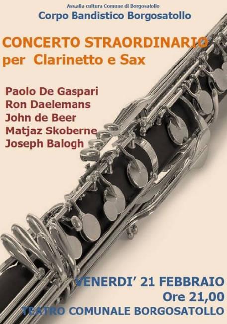 Concerto Straordinario per Clarinetto e Sax a Borgosatollo