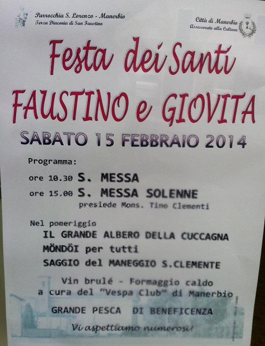 Festa dei Santi Faustino e Giovita 2014 Manerbio