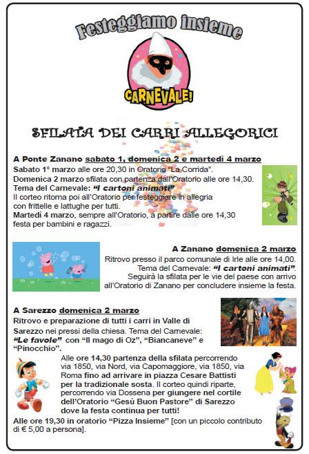 Festeggiamo il Carnevale a Sarezzo