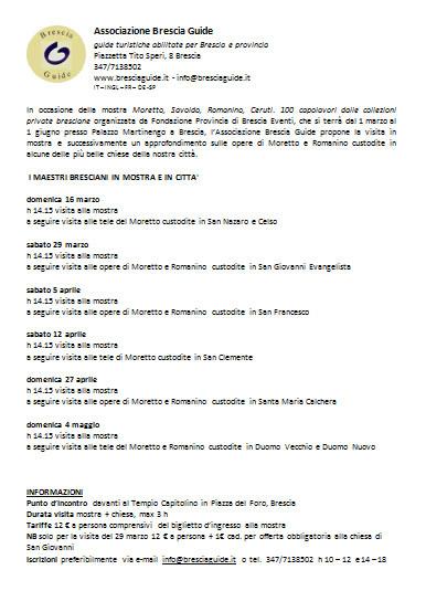 I Maestri Bresciani in Mostra a Brescia