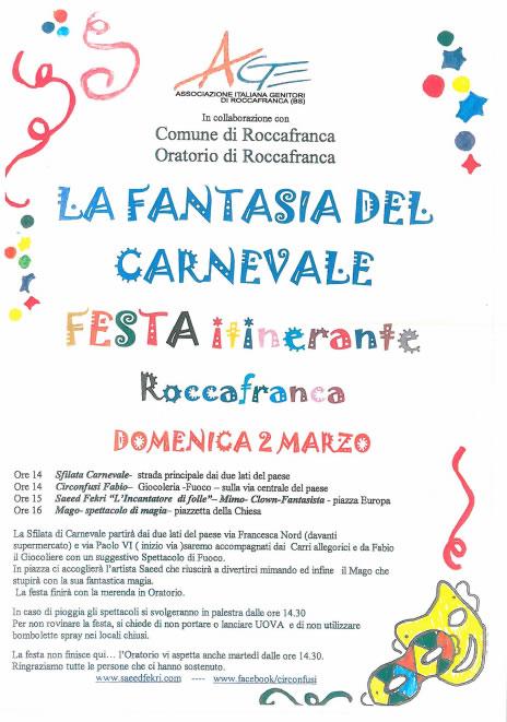 La Fantasia del Carnevale a Roccafranca