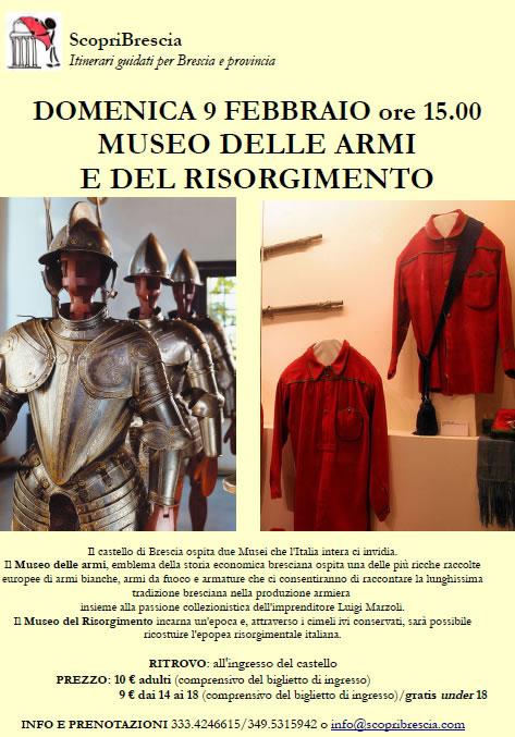 Museo Armi e Risorgimento con ScopriBrescia