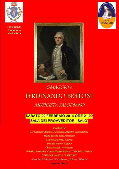 Omaggio a Ferdinando Bertoni a Salò