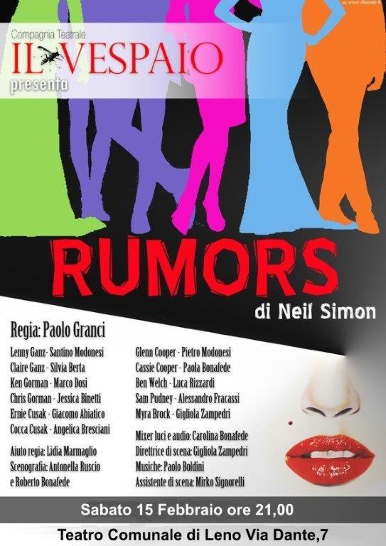 Il Vespaio compagnia teatrale Rumors