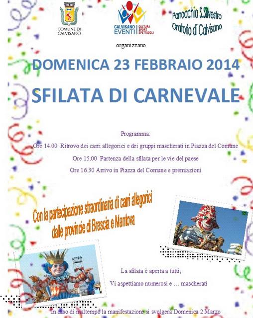Sfilata di Carnevale a Calvisano