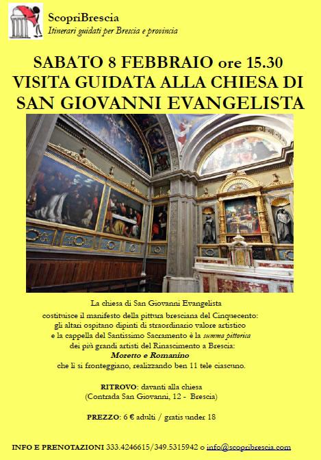 Visita Guidata alla Chiesa di San Giovanni Evangelista con ScopriBrescia