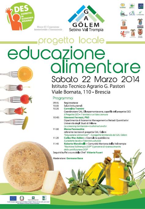 Convegno sull'Educazione Alimentare a Brescia