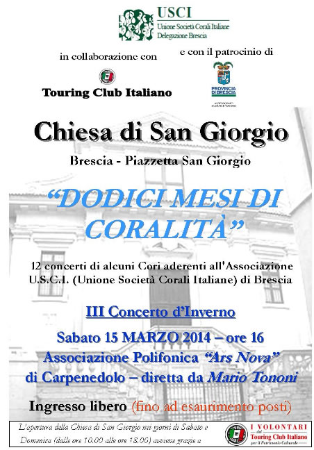 Dodici Mesi di Coralità a Brescia