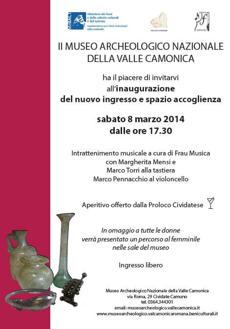 Inaugurazione al Museo Archeologico Nazionale della Valle Camonica