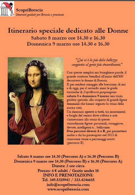 Itinerario Speciale Dedicato alle Donne con ScopriBrescia