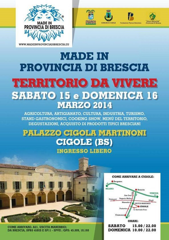 Made in Provincia di Brescia 2014 Cigole