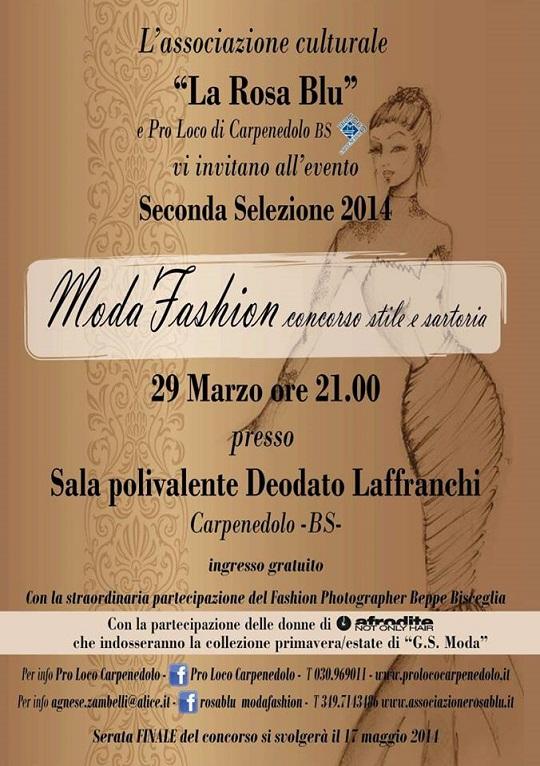 Moda Fashion Concorso Stile e Sartoria 2014 Carpenedolo