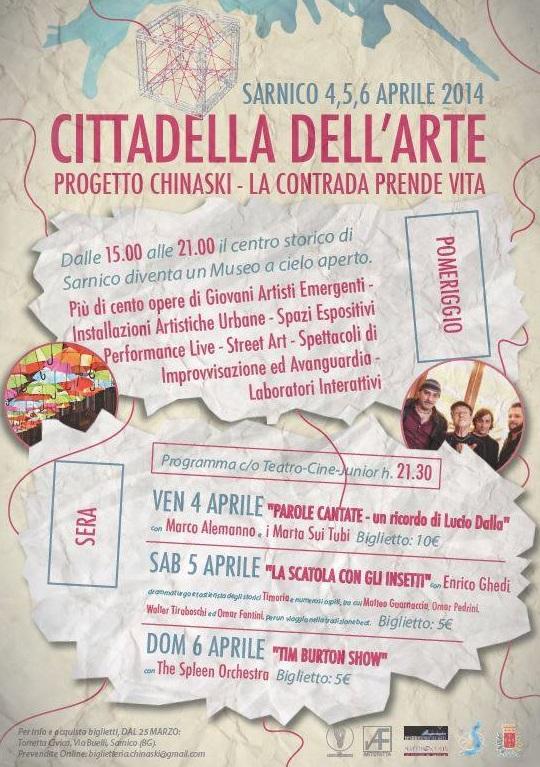 Progetto Chinaski - LA CITTADELLA DELL'ARTE, Sarnico 2014