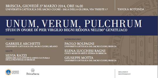 Unum Verum Pulchrum Brescia