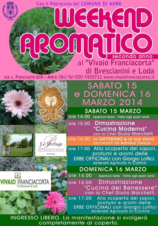 Weekend Aromatico 2014 Adro