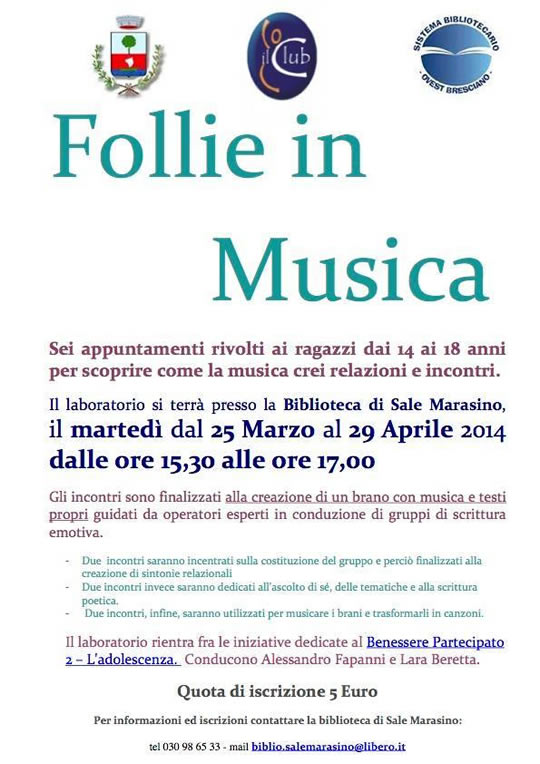 Follie in musica