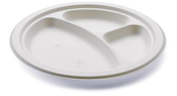 piatto 3 scomparti per feste e degustazioni