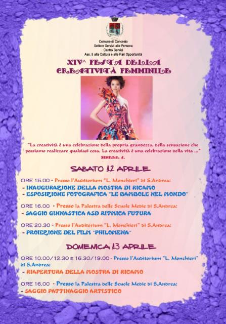 14° Festa della Creatività Femminile a Concesio