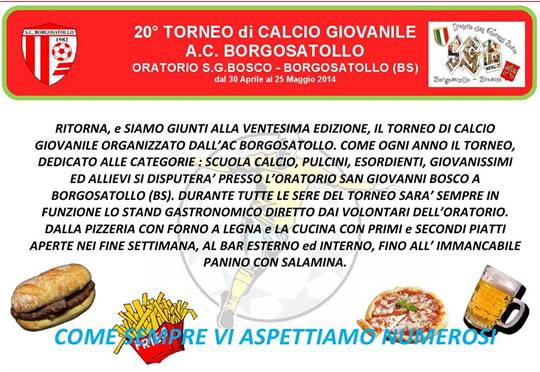 20 Torneo di Calcio a Borgosatollo