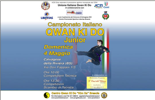 32° Campionato Italiano Junior di Qwan Ki Do a Calvagese d Riviera