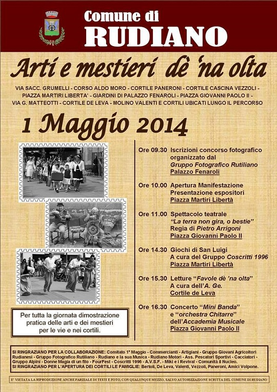 Arti e mestieri de na olta 2014 RUDIANO