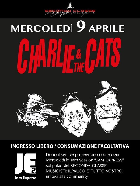 Charlie & the Cats al Seconda Classe Brescia