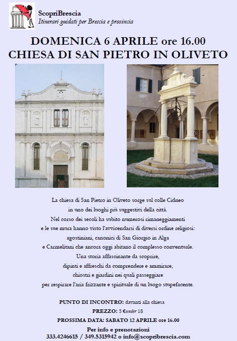 Chiesa di San Pietro in Oliveto con ScopriBrescia