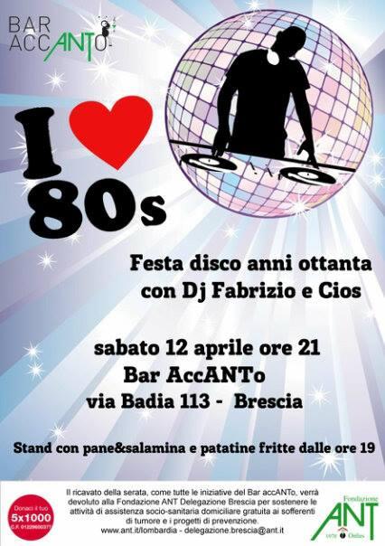 Festa Anni 80 al bar accANTo