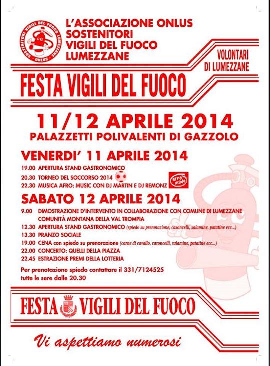 Festa Vigili del Fuoco Lumezzane 2014