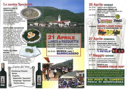 Festa della Sparasina Pigozzo - Programma